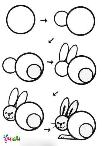 تعليم رسم الحيوانات خطوة بخطوة للاطفال Easy Drawings For Kids Easy Drawings Art Drawings For Kids