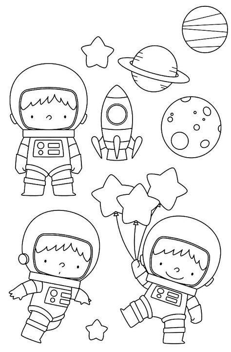 Astronauta Desenhos Para Criancas Colorir Desenhos Faceis