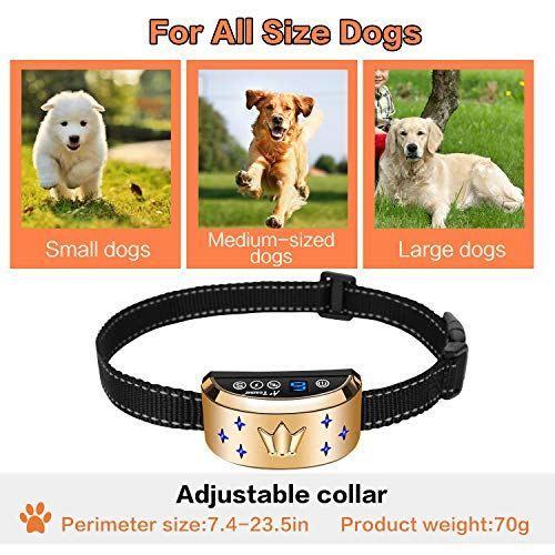 Dog Bark Collar Waterproof Dog Training Collar Training Collar