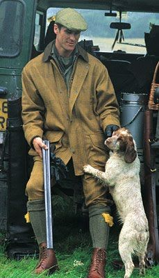 Muddy spaniel and a defender, my ideal man!
