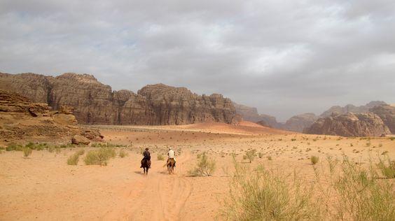 Horseback ride in powerfull colors of Wadirum desert