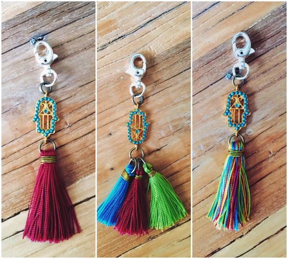 Hamsa Keychain by BearxCo on Etsy. Go check out all of her accessories for men & women! The sweet soul who makes these is angel. All of her items are handcrafted with love! BearxCo