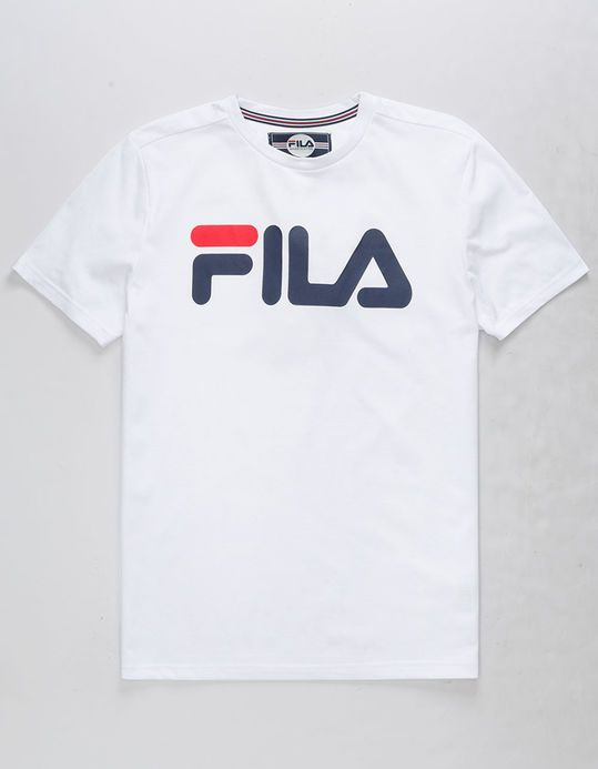 sprzedaż online podgląd szczegółowe zdjęcia FILA Classic Logo White Boys T-Shirt in 2019 | Boys t shirts ...