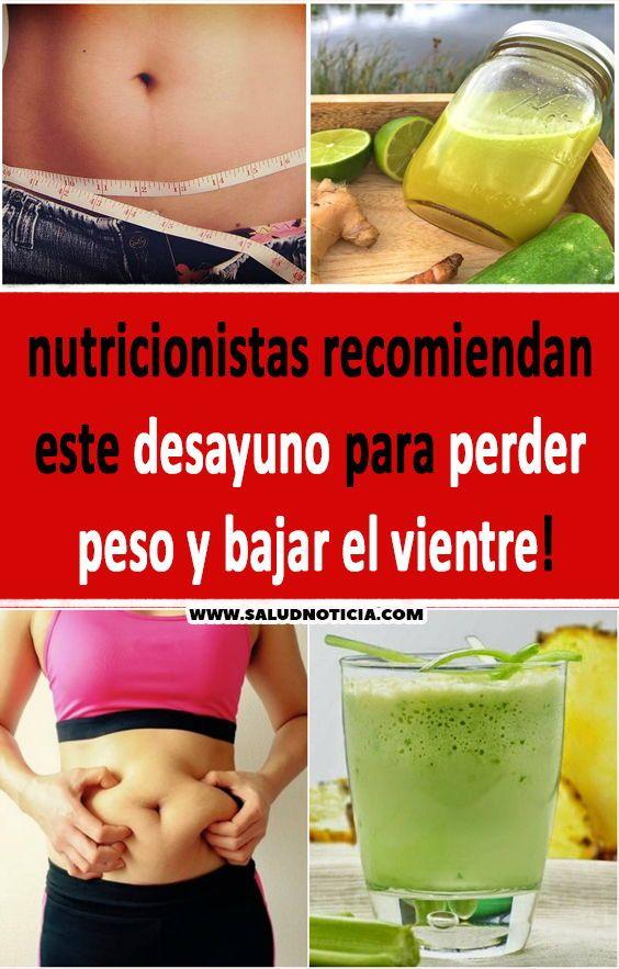 nutricionistas para bajar de peso