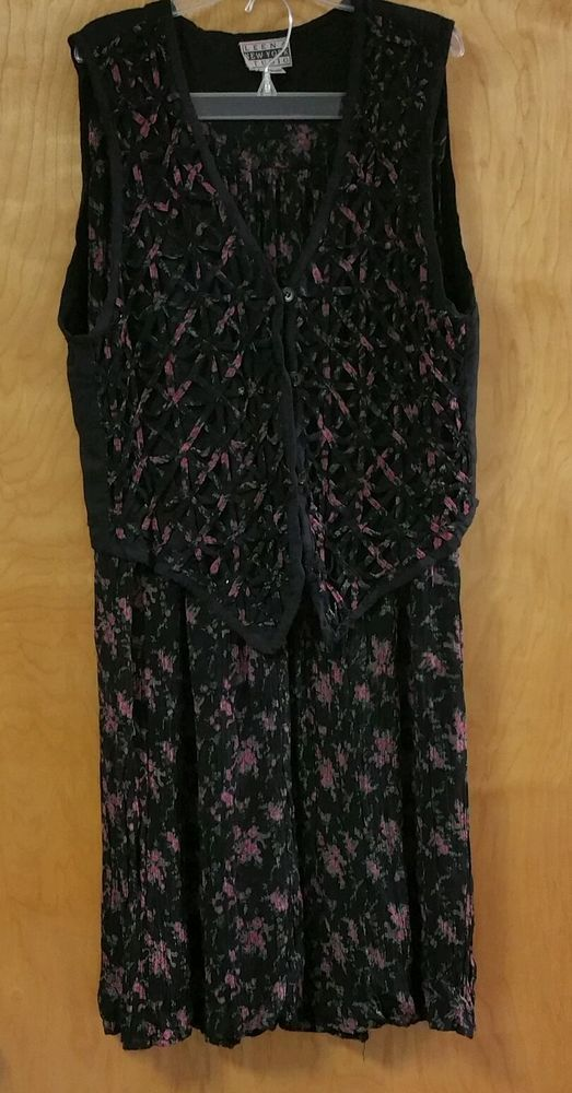 BOHO Women's Vintage Leena New York Studio Skirt Suit Vest Size L in Clothing, Shoes & Accessories, Women's Clothing, Skirts | eBay