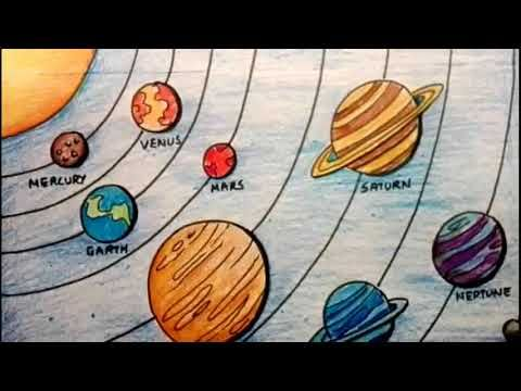How To Draw Solar System Easy Solar System Planets Drawing For