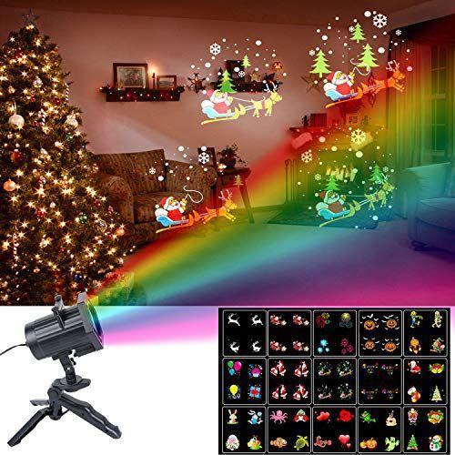 Lampe Noel Projecteur de Lumière Noël, UNIFUN 15pcs Motifs Animation Lampe de