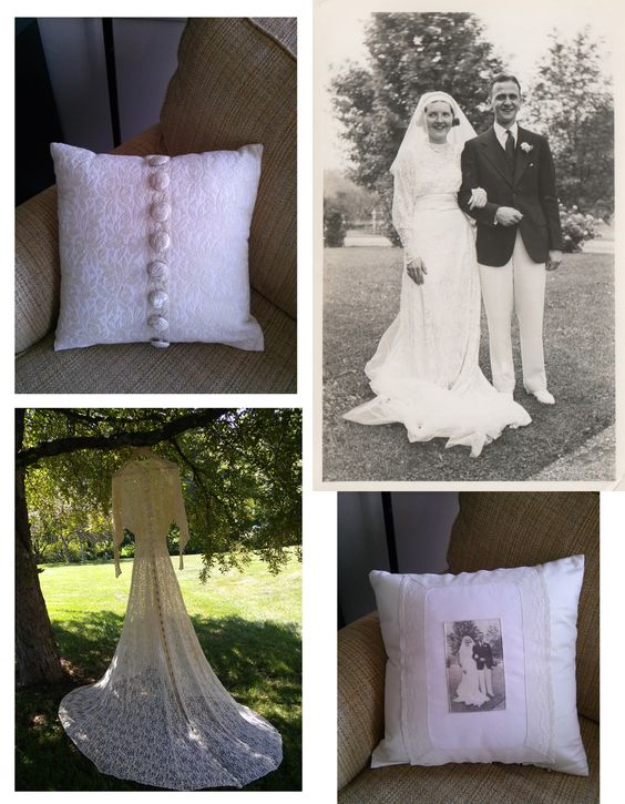 save grandmas wedding dress keepsake