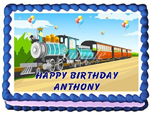 Train Edible Frosting Sheet Cake Topper  14 Sheet -- More info could be found at the image url.