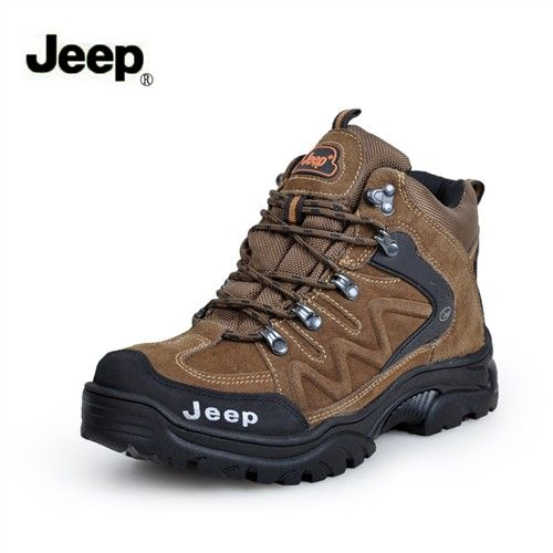 Jeep Men Leather Outdoor Hilking Boots Free Bonus A Pair