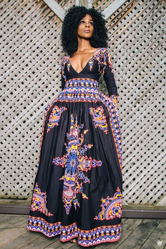 VICTORIA African print dress: