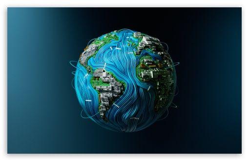 High Tech Earth Hd Wallpaper For 4k Uhd Widescreen Desktop Smartphone Desktop Wallpapers Backgrounds Wallpaper Earth Hd