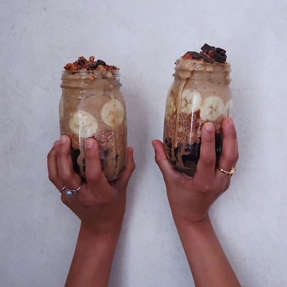 Almond Butter Makes Everything Better Yes Everything زبدة اللوز تحلي كل شي كل شي تبغون اسوي فيديو كيف تسوونها بالبيت ال Healthy Instagram Posts Mason Jars