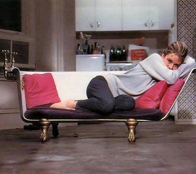 I need a bathtub chair. (Audrey Hepburn as Holly Golightly in Breakfast at Tiffany's.)