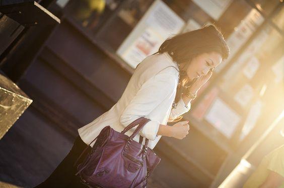 Shades of Purple :: Plum jeans & Raisin Balenciaga