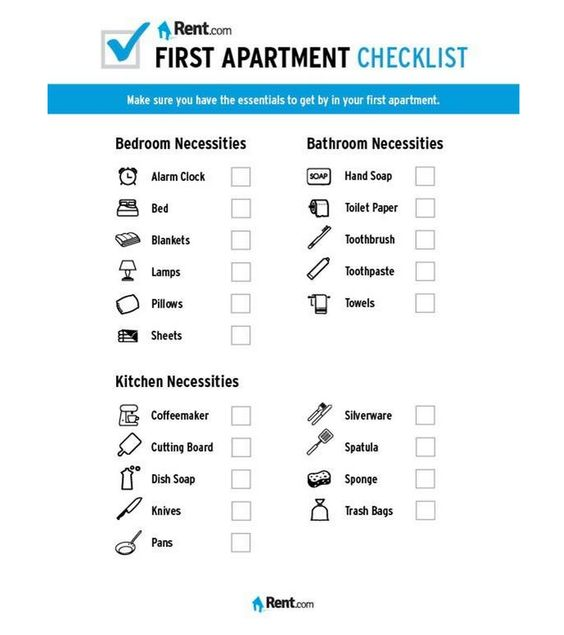 apartment checklist checklist for moving first apartment apartments
