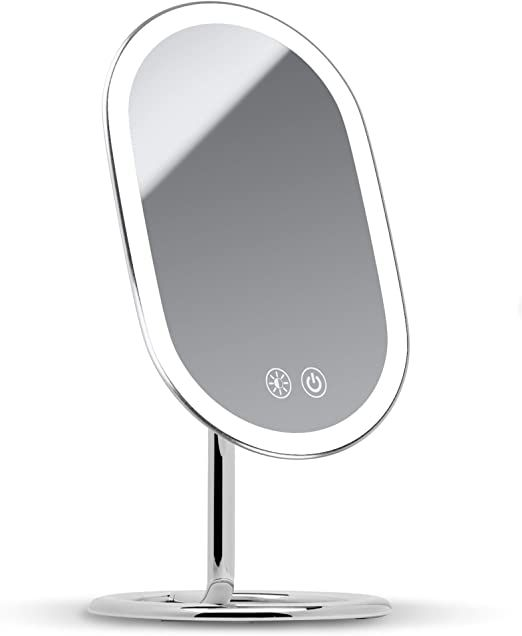 Fancii Led Lighted Vanity Makeup Mirror Rechargeable Cordless Illuminated Cosmetic Mirror With 3 Dimmable Light Setting In 2020 Cosmetic Mirror Makeup Mirror Mirror