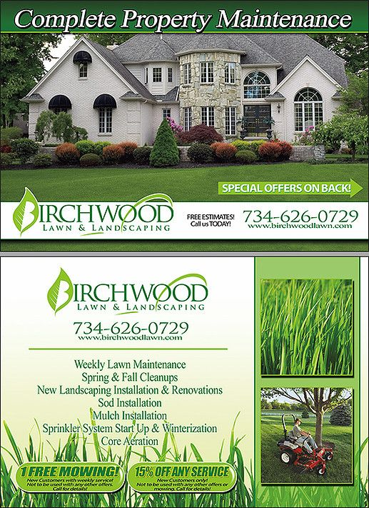 Lawn & Landscape Postcards | Postcards for your Lawn Care and ...