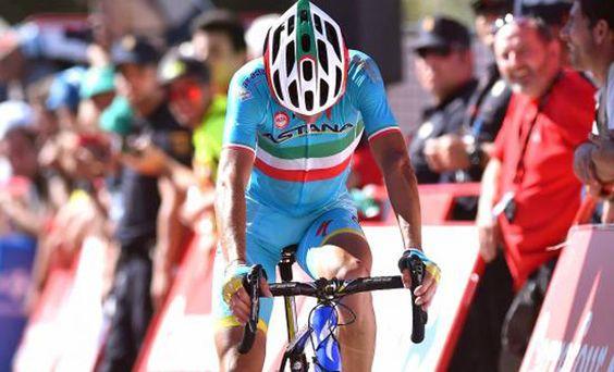 Vincenzo Nibali na chegada da 2ª etapa da Volta a Espanha Foto:ASO