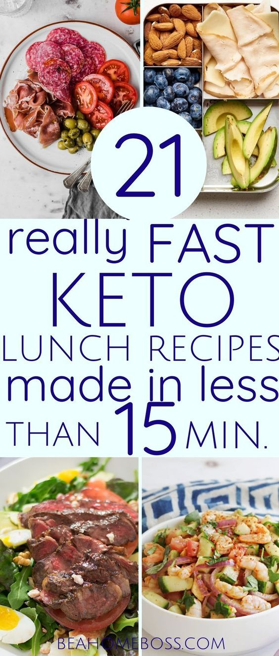 21 Really Fast Keto Lunch Recipes made in Less Than 10 Min.