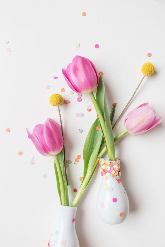 DIY Confetti Vases - Sugar & Cloth