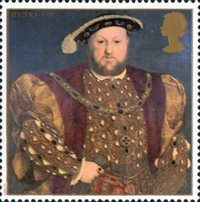 The Great Tudor 26p Stamp (1997) King Henry VIII
