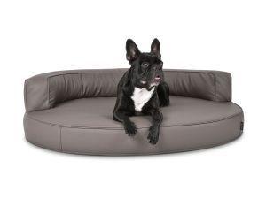 Atlanta Select Kunstleder Hundebett Taupe 70x50 Cm Hundewelt Hunde Bilder Hunde Bett Hund Sofa Hunde Couch