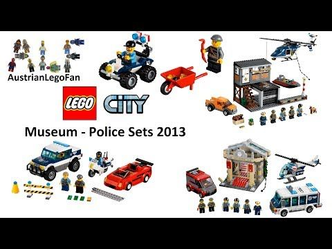 All Lego City Museum Break In Police Sets 2013 Lego Speed Build Review Youtube