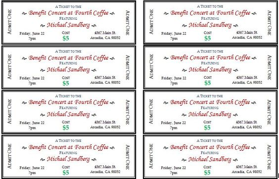 Amazing Event Ticket Template DOWNLOAD At Http://www.bizworksheets.com/event Ticket  Templates/ | Daily Microsoft Templates | Pinterest | Ticket Template, ... To Microsoft Office Ticket Template
