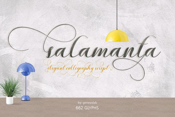 Salamanta Script 30%off by Genesis Lab on @creativemarket