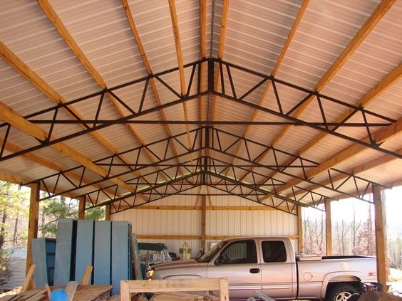 Need Metal 30 X 60 16 Rv Or Motorhome Cover Tall Pole Barn Steel Trusses