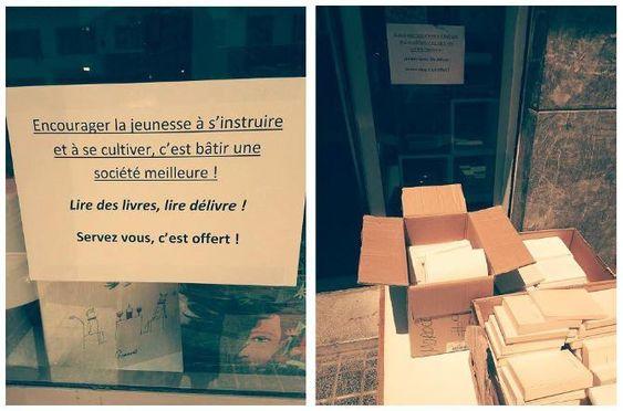 À Casablanca, pour sauver les livre du pilon, ils les offrent aux passants