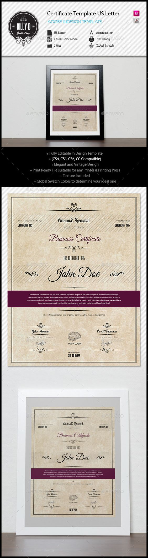 Certificate template us letter certificate template and adobe certificate template us letter certificate template and adobe indesign yelopaper Image collections