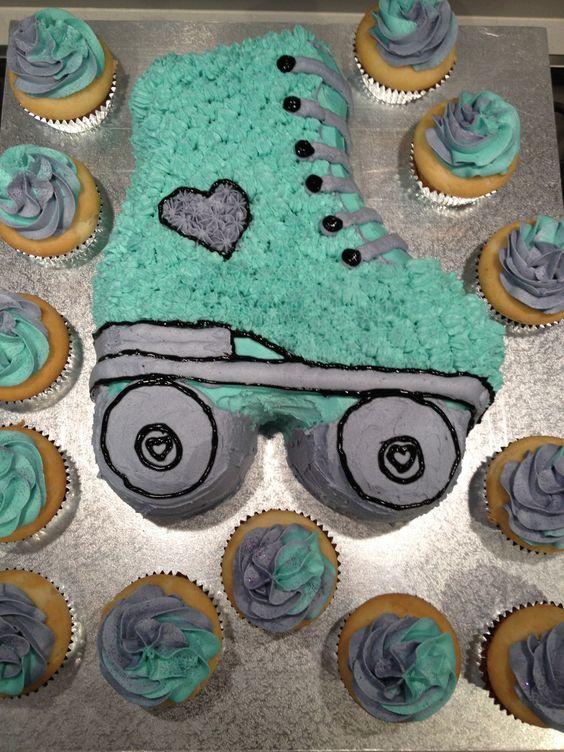 Roller skate Birthday Cake with Vanilla Buttercream