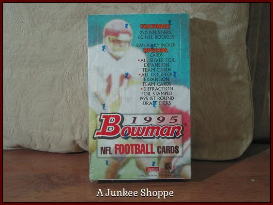 BOWMAN 1995  NFL Football Trading Card Full Unopened Box A Topps Company 936  http://ajunkeeshoppe.blogspot.com/