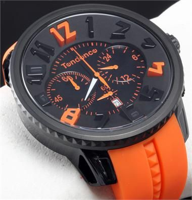Tendence Black Orange Chronograph - Cool Watches from Watchismo.com