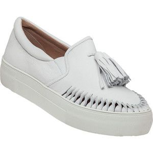 J/SLIDES Aztec White Leather Slip On