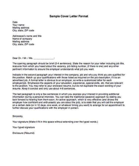 Examples Of Cover Letter Format  HttpResumesdesignCom