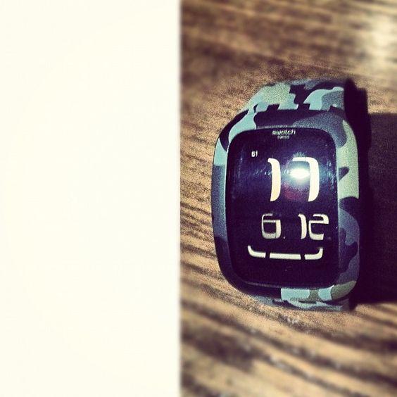 今回のGUAM旅行、私の「お買物」はコレのみ。一目惚れの Swatch Touch (^_−)−☆ - @taq156- #webstagram watch