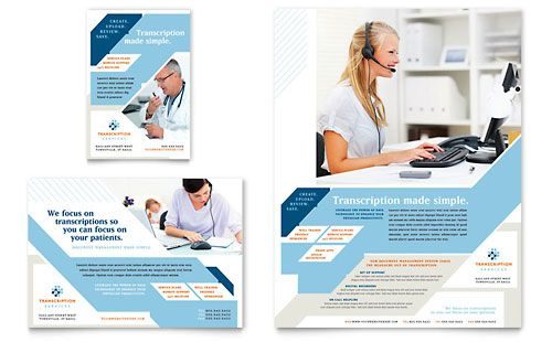 Medical Transcription Flyer \ Ad Template by @StockLayouts - hospital flyer template