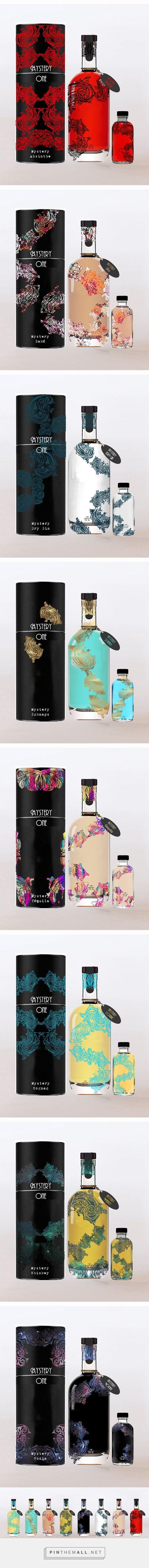 Mystery One high gradation alcoholic beverages. Design by Cynthia Quemener Pin curated by #SFields99 #packaging #design