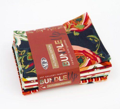 Art Gallery Autumnal Edition 10 Fat Quarters Bundle Up Precut Cotton Fabric Quilting CB-BFQ304