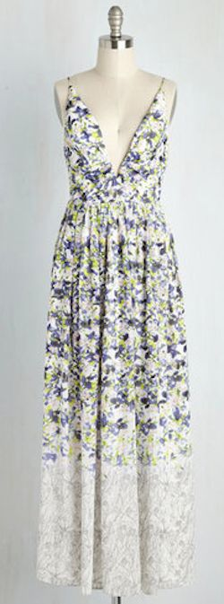 love this long floral summer dress