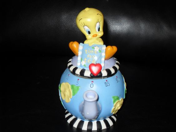 Very Rare 1999 Warner Bros Tweety Bird Time For Tea Cooking Timer