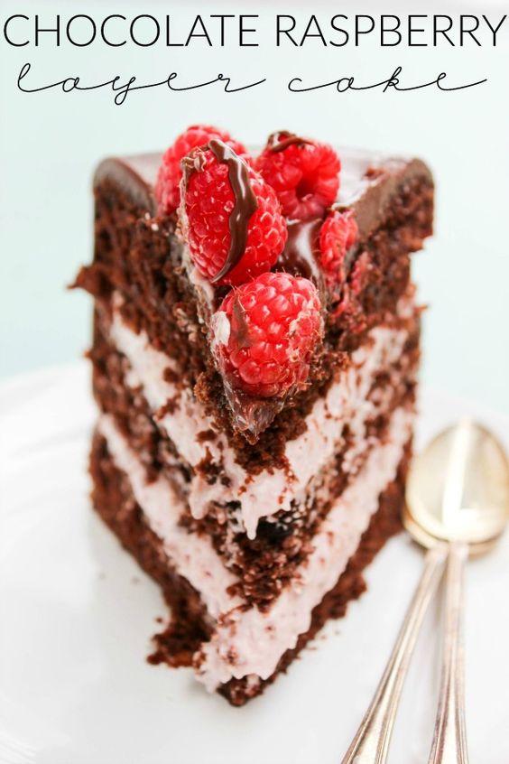 Chocolate Raspberry Layer Cake | Recipe | Layer Cakes, Raspberries and ...