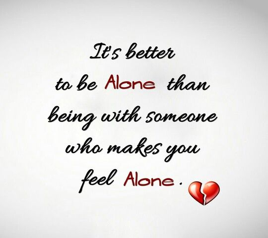 I love to stay alone <3
