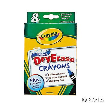 Crayola® Dry Erase Crayons (laminate pages for toddlers and they can color)
