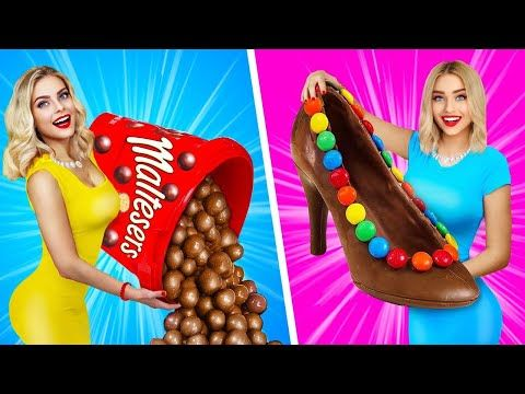 Real Food Vs Chocolate Food Challenge Eating Giant Chocolate Candy Tasty Mukbang By Ratata Boom Youtub Chocolate Recipes Food Challenge Real Food Recipes