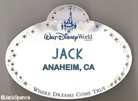 Disney Name Tags The World According To Jack Disney Cast - Travel name tag template