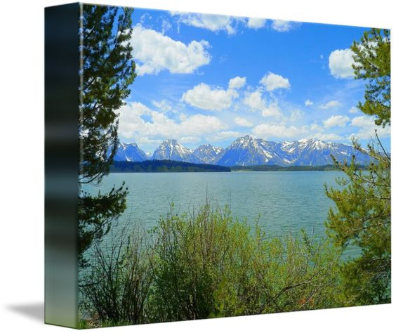"""""""On The Other Side"""" by Photography Moments, Boise // On The Other Side, Grand Teton National Park - Jackson Lake // Imagekind.com -- Buy stunning fine art prints, framed prints and canvas prints directly from independent working artists and photographers."""